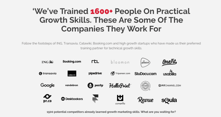 Growth tribe social proof