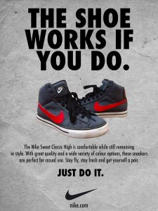 nike call to action ad